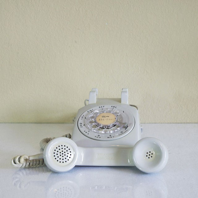 1973 Dove Grey Rotary Desk Phone - Image 3 of 5