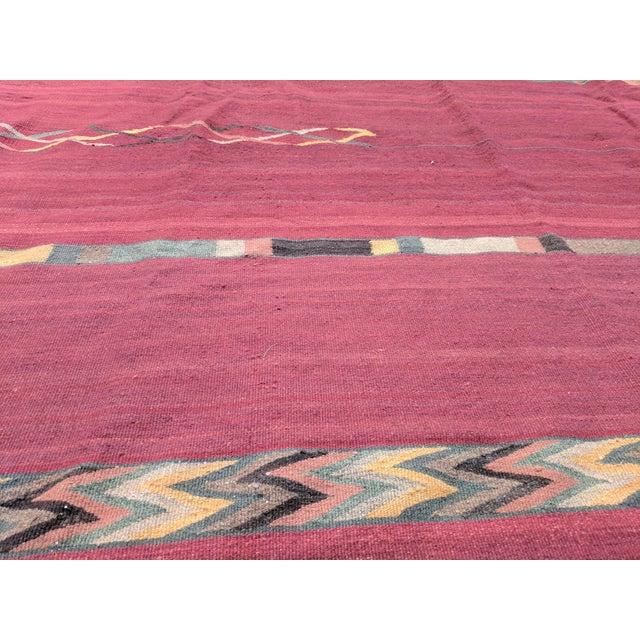 Mexican Rug History: Geometric Zapotec Wool Area Rug - 9′ × 12′