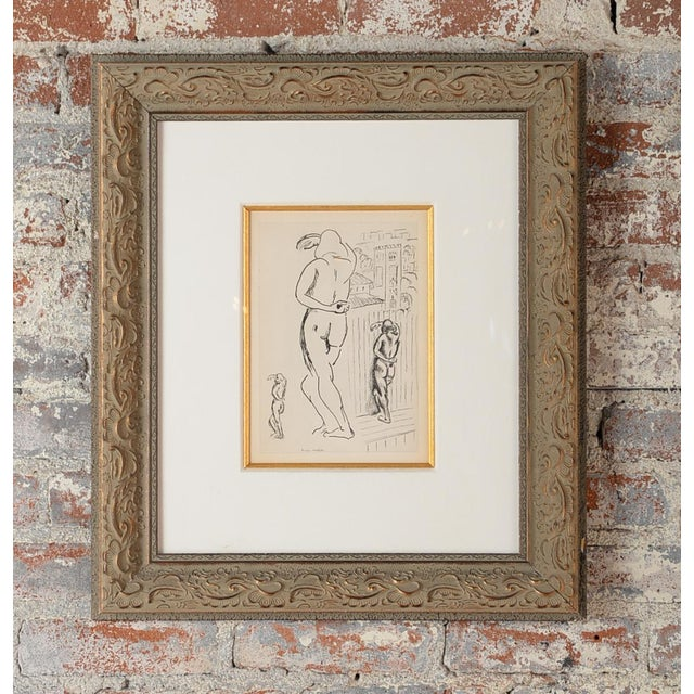 "Image of Matisse ""Planche 2"" Portrait of a Woman Lithograph"