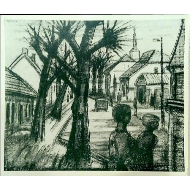 Image of Vintage Teltow Germany Charcoal Prints - Set of 4