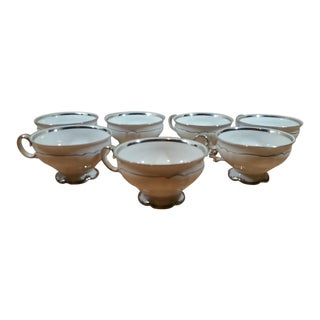 Hutschhenreuther Porcelain Coffee Mugs - Set of 7