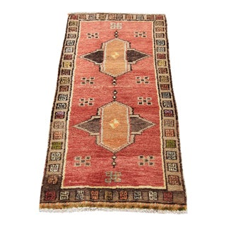 Vintage Tribal Oushak Rug - 1′8″ × 3′4″