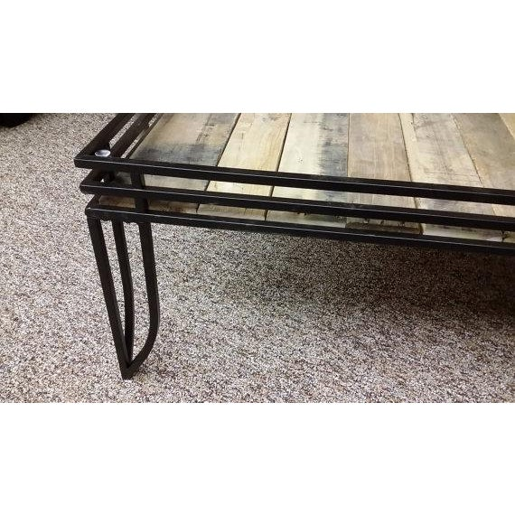 Rustic Glass Top Coffee Table With Wood Chairish