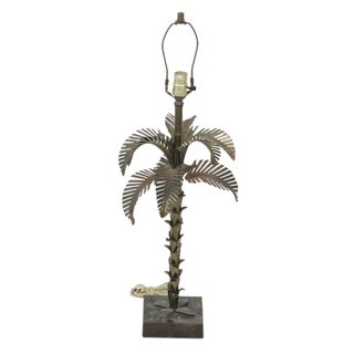 Maison Jansen Style Metal Palm Tree Lamp