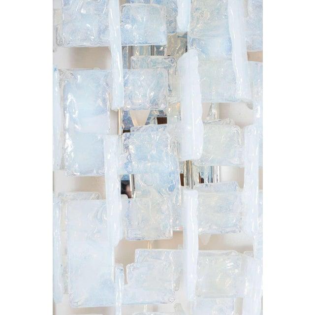 Mid-Century Modernist Iridescent Interlocking Sconces By Mazzega - Image 3 of 7