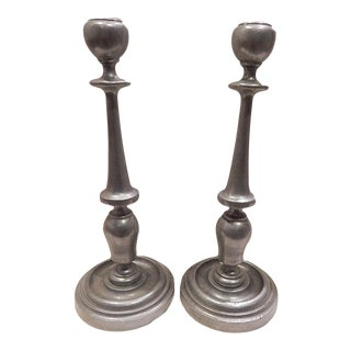 Traditional Freeport PA Carson Pewter Candle Sticks
