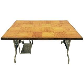 Vintage Hand Made Parquet Desk