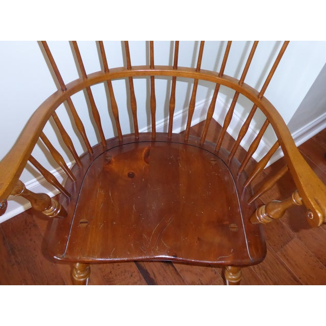 Ethan Allen Windsor High Back Arm Chair - Image 6 of 10