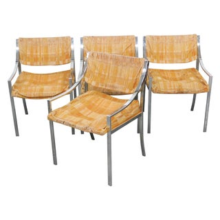 Modern Chrome & Upholstered Side Chairs - 4