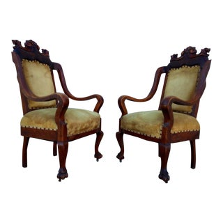 Antique Empire Revival Chairs - A Pair