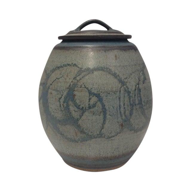 Mid-Century Studio Pottery Lidded Jar - Image 1 of 5