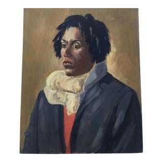 Original Vintage Male Portrait Painting
