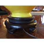 Image of Vintage Norman Perry Lemon Yellow Glass Lamp