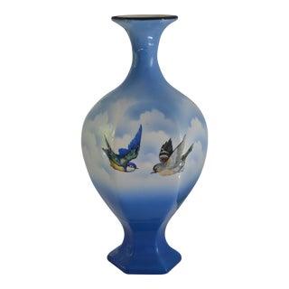 Vintage Bird & Clouds Vase