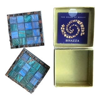 70th Academy Awards Governor's Ball Bisazza Mosaic Coasters in Box - A Pair