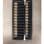 Image of Vintage Black & Natural Wood Abacus