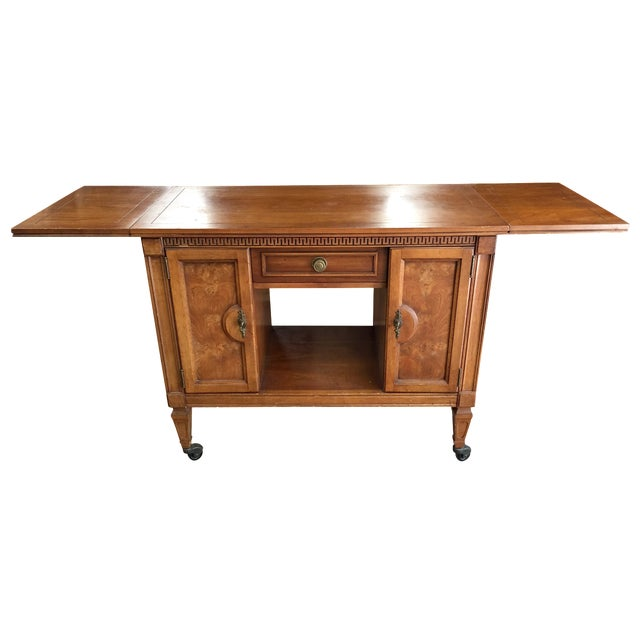 Extendable console side table chairish - Buffet table extensible ...
