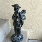 Image of Sculptural Asian Statue Mother & Child