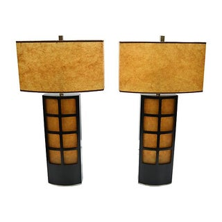 Asian-Inspired Lamps - A Pair