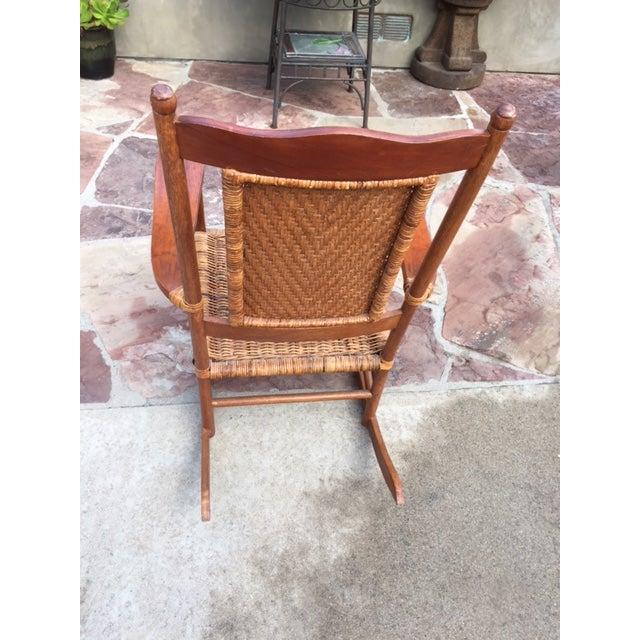 Teak Rattan Rocking Chair - Image 3 of 11