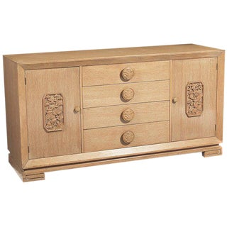 Chinoiserie Oak 4 Drawer Sideboard