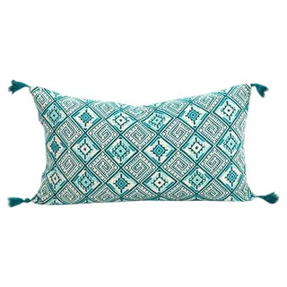 Guatemalan Emerald Handwoven Pillow