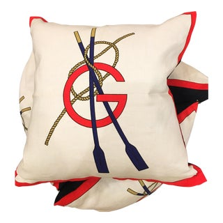 Gucci Linen Nautical Rowing Pillow, 1970s