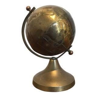 Small Vintage Brass Globe