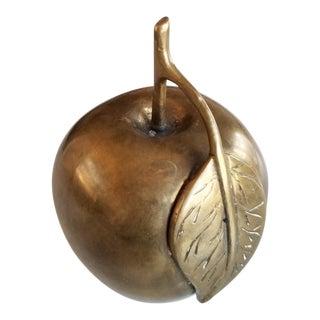 Mid-Century Modern Brass Apple