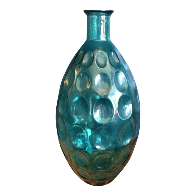 Large Turquoise Glass Vessel - Image 1 of 6