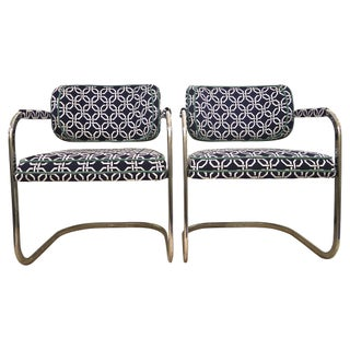 Chrome Cantilever Chairs - A Pair