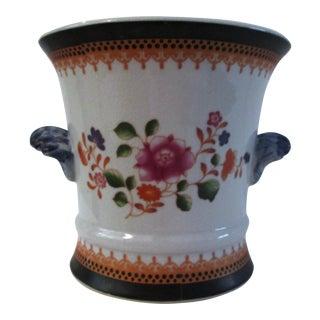 Ceramic Chinoiserie Cachepot