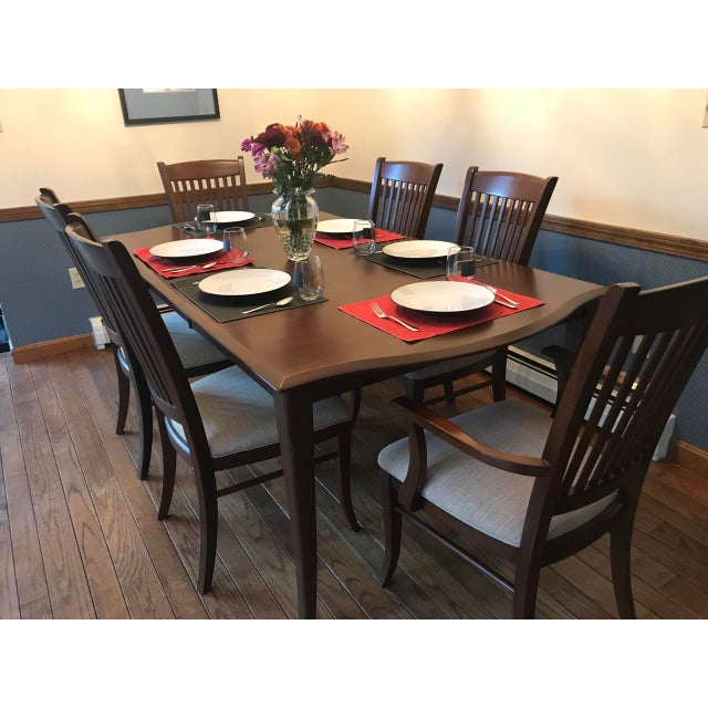 Richardson Brothers Solid Wood Dining Set - Image 5 of 11