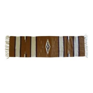 Hand Woven Chimayo Wool Runner - 1′6″ × 5′3″