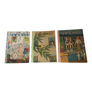 1956, 1963 & 1970 New Yorker Magazines With Steig Covers - Set of 3