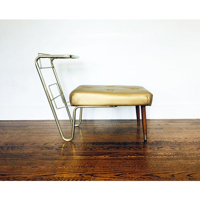 Image of Vintage Gold Telephone Bench