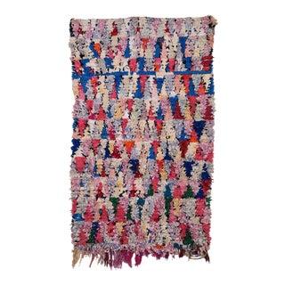 Moroccan Boucherouite Rag Carpet - 3′6″ × 5′8″