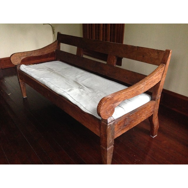 Antique balinese teak daybed bench chairish Daybed bench