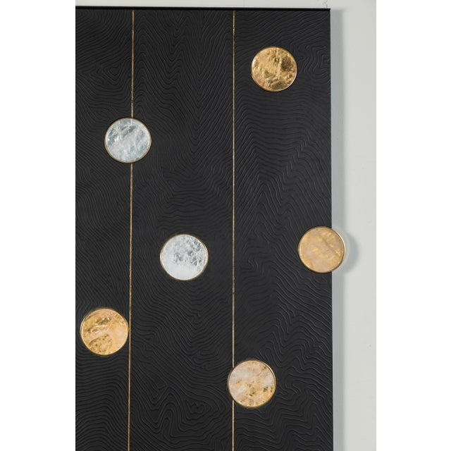 Art Wall Panel with Texture and Rock Crystal by Paul Marra - Image 3 of 11