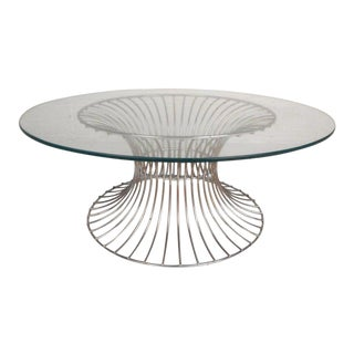Vintage Modern Coffee Table in the Style of Warren Platner