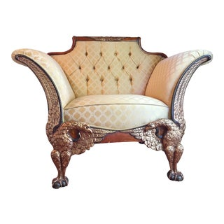 Empire Russian Style Accent Chair with Double Eagle & Ball Foot