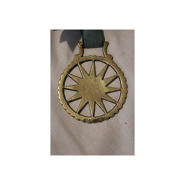 Antique English Horse Brass Starburst Ornament - Image 3 of 3