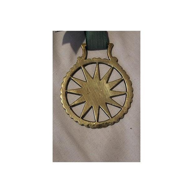 Image of Antique English Horse Brass Starburst Ornament
