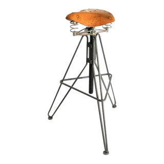 Bicycle Seat Adjustable Height Swivel Stool - Bar/Counter Stool