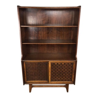 Lane Basket Weave Hutch & Bookcase