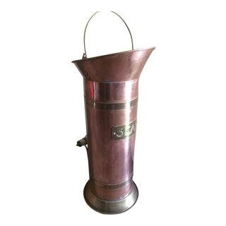 Vintage Copper & Brass Umbrella Stand