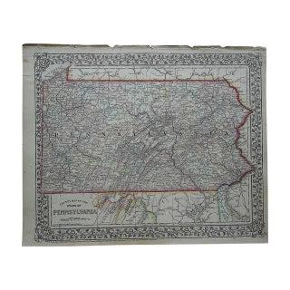 Antique Map of Pennsylvania