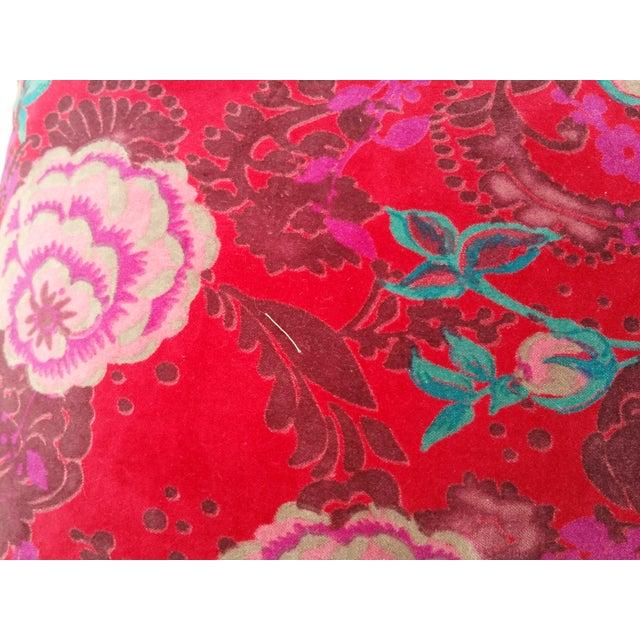 Velvet Rose Pillows- A Pair - Image 3 of 5