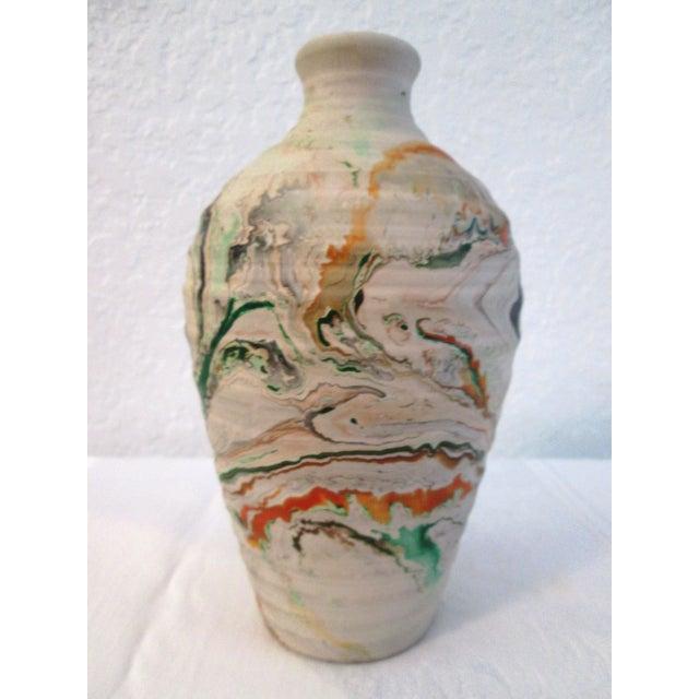 Nemadji Swirl Pottery Vessels - Pair - Image 6 of 11