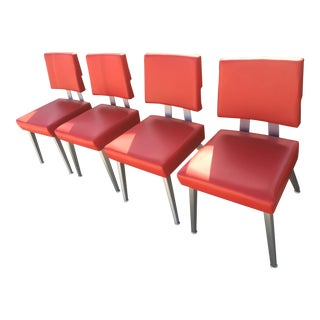 Red Dining Chairs - Set of 4